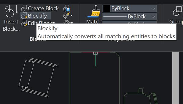 BricsCAD Blockify Command