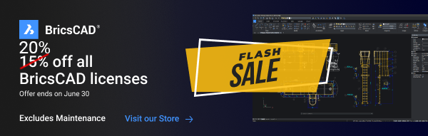 BricsCAD Flash Sale - 20% Off